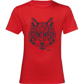 Jack Wolfskin Brand Tee Kids peak red